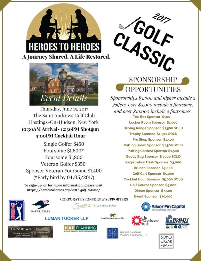 New York charity golf outing raising money for wounded warriors