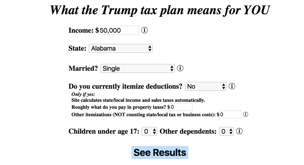 Tax Plan Calculator