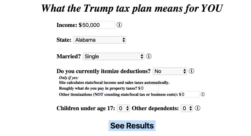 Tax Plan Calculator